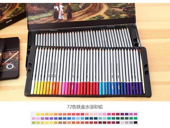 Set Of 72 Profissional Colored Pencils Watercolor Pencils Lead