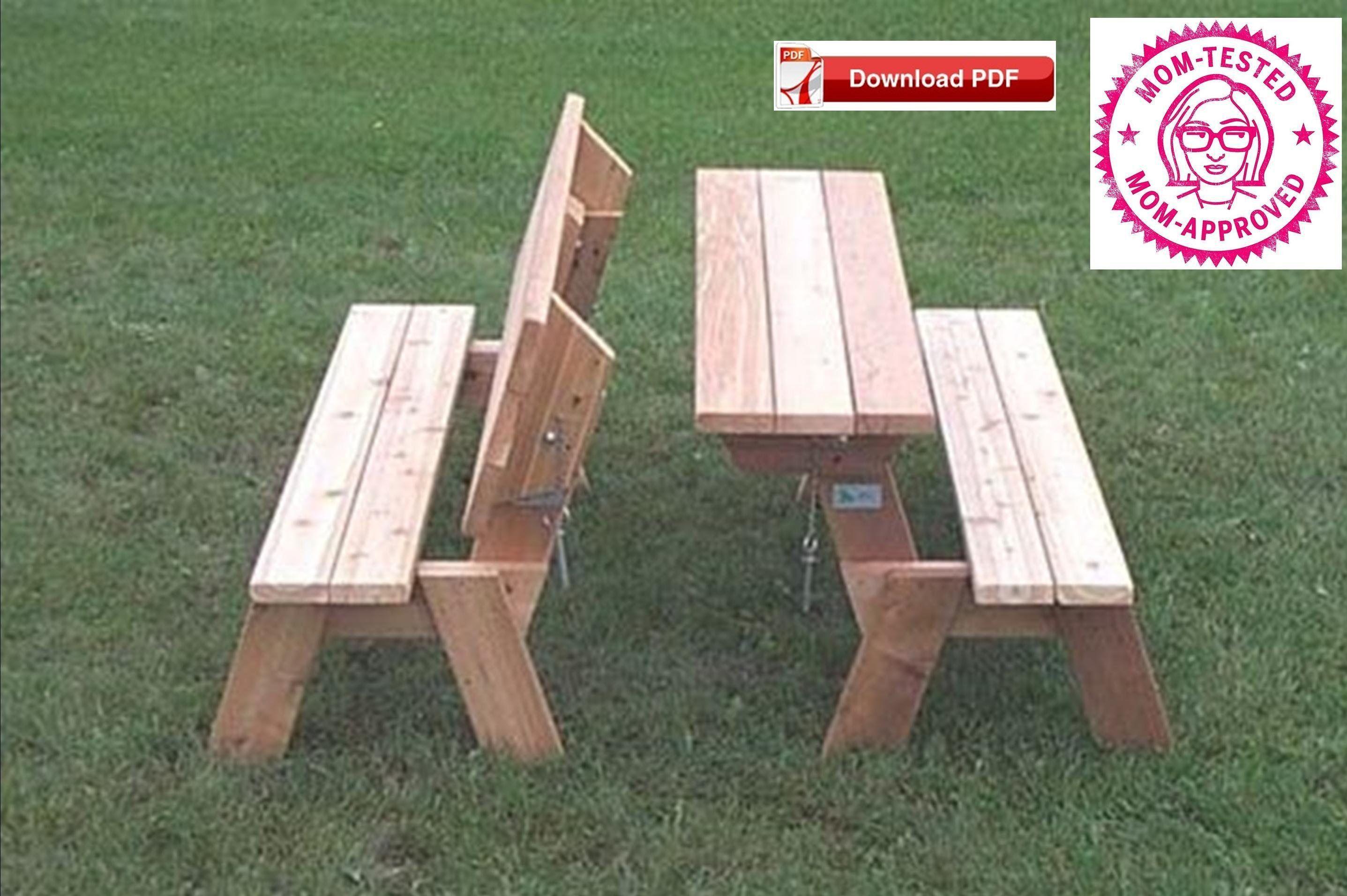 Folding Picnic Table Plan Folding Bench Plan Combo Picnic Table
