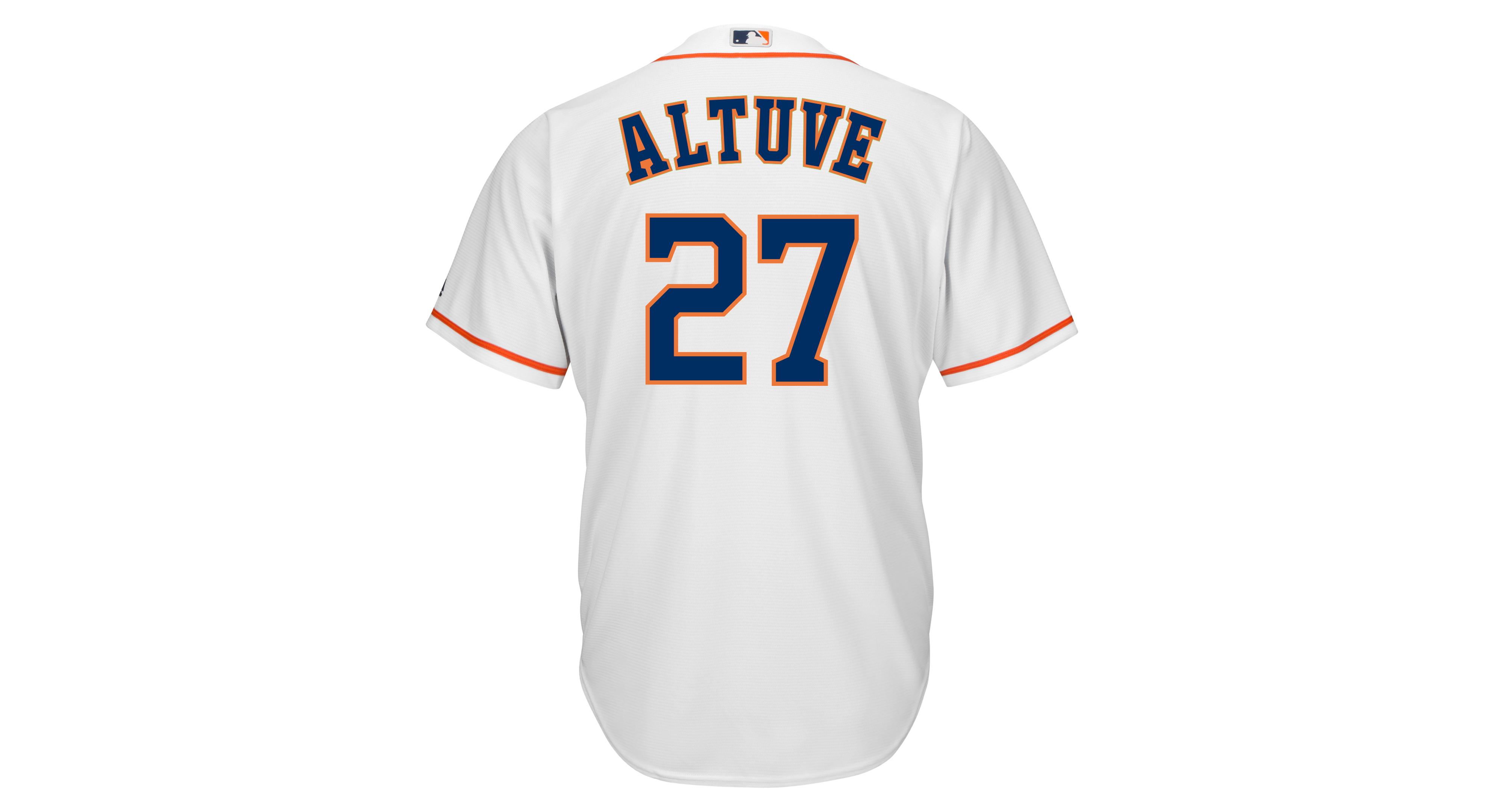ba1b9e3a4 Majestic Men s Jose Altuve Houston Astros Replica Jersey
