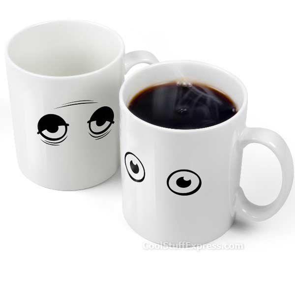 WakeUp Temperature Sensitive Coffee Mug WakeUp Cup is heat