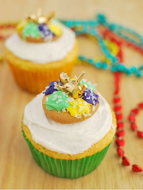 King Cake Cupcakes by fakeginger, via Flickr