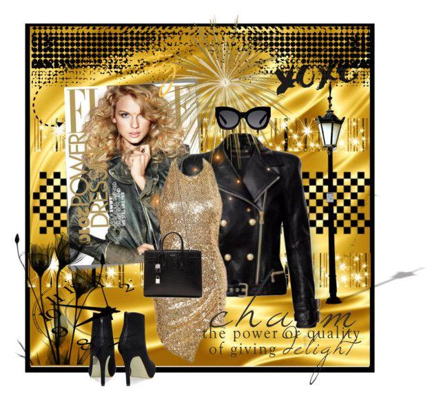 """Untitled #2915"" by kellie-debrandt-mescher ❤ liked on Polyvore featuring Post-It, Balmain, Marc Jacobs, Yves Saint Laurent, Karen Walker, women's clothing, women's fashion, women, female and woman"