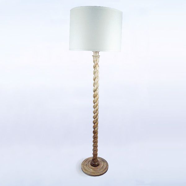 The barley twist floor lamp features a carved coil of wood from the barley twist floor lamp features a carved coil of wood from base to shade mozeypictures Images