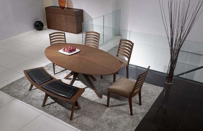 Table 224 Manger Design Ovale En Ch 234 Ne Chocolat Conan Deco