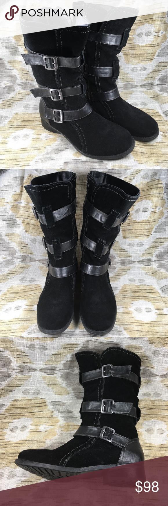 Eddie Bauer Boots Boots, Black leather boots, Clothes design