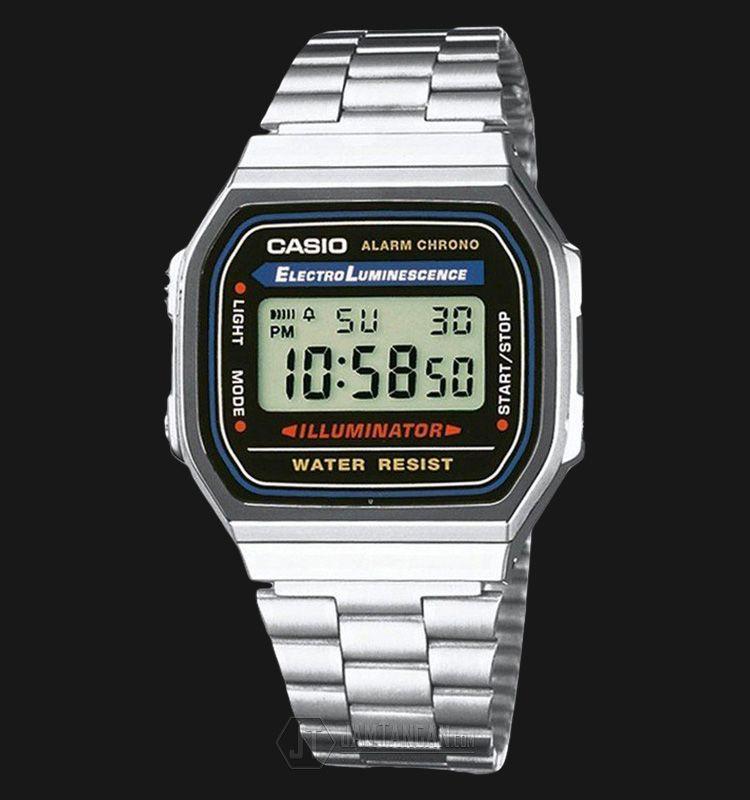 Beli jam tangan Casio Retro A168WA-1WDF Stainless Steel Alaram Chronograph  Watch - Daftar Harga jam termurah f2790f130a