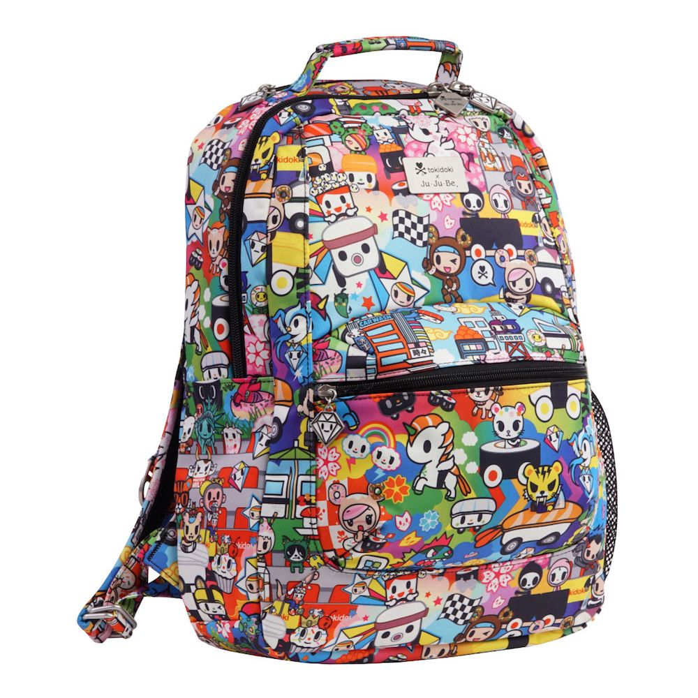 8cd8d2ceb99a Tokidoki   Sanrio for Ju-Ju-Be  Sushi Cars print on the Be Packed back pack