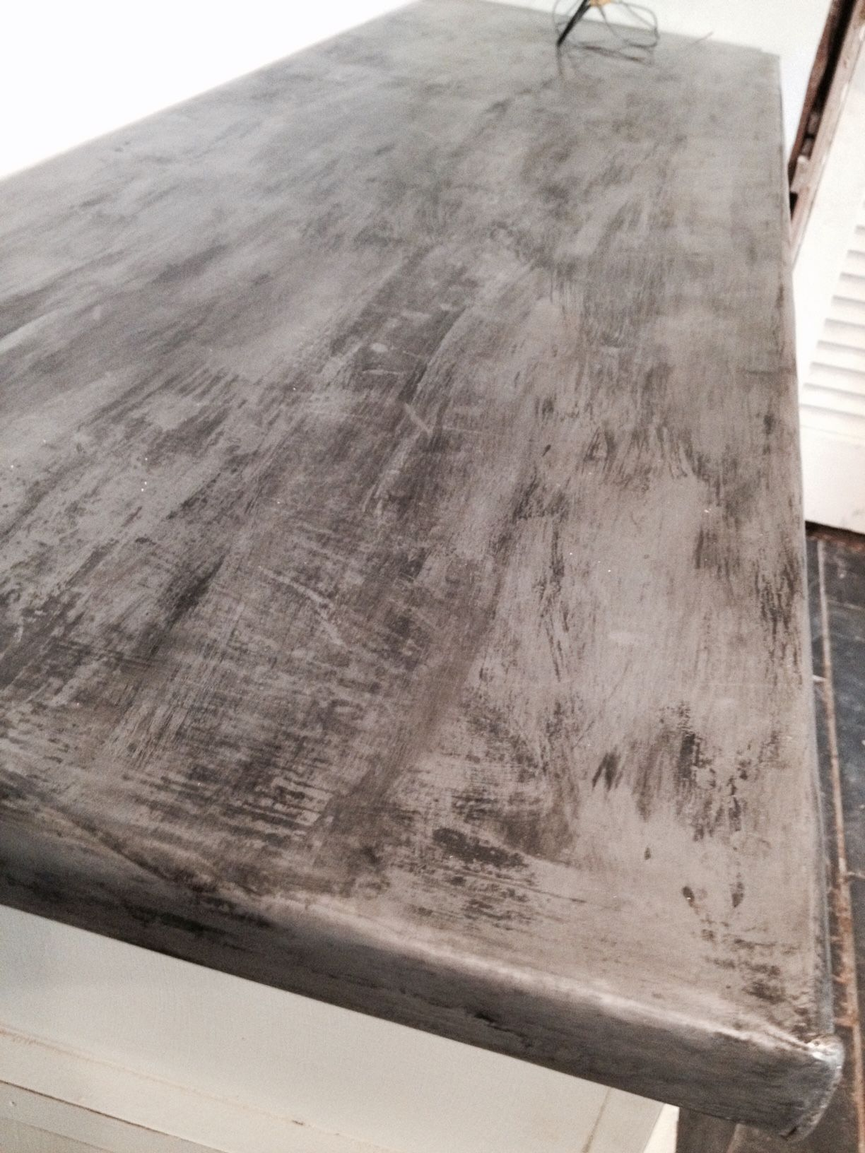 Make Me Pretty Zinc Countertop Diy Diy Countertops Metal Countertops Zinc Countertops
