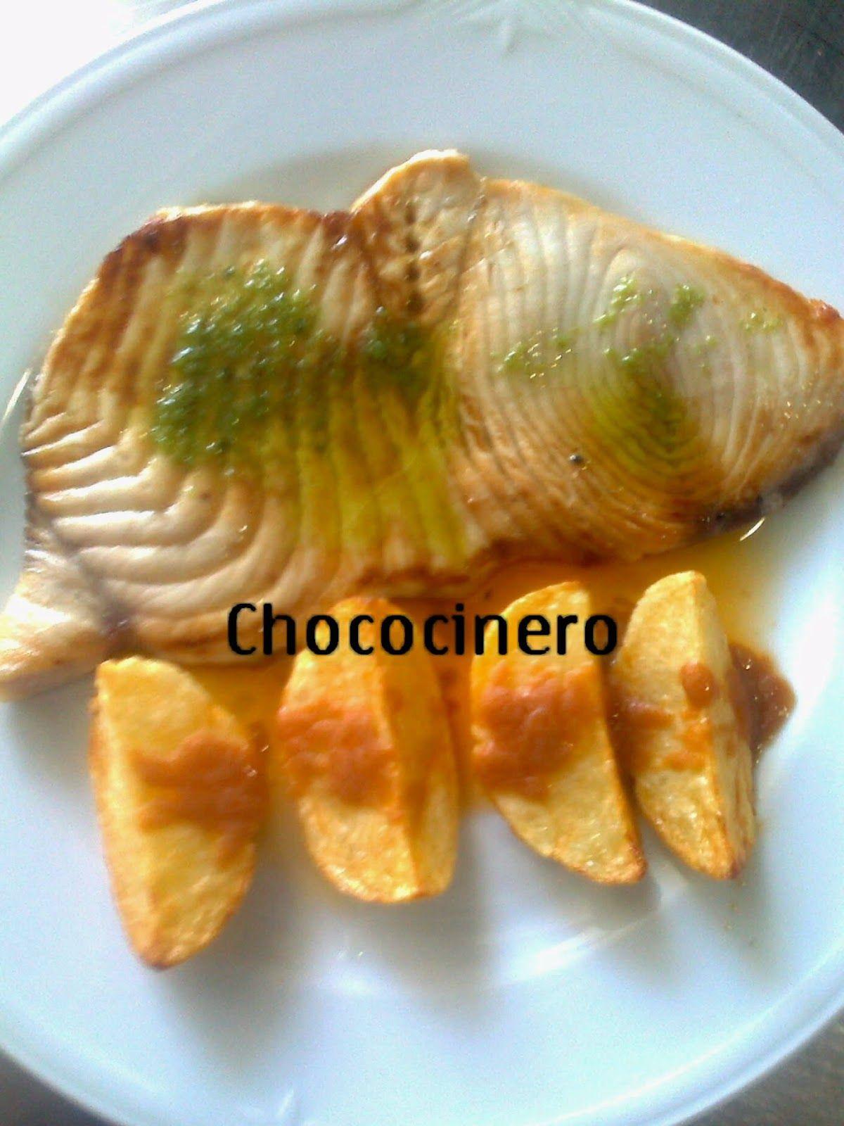 Chococinero y sus menus marrajo a la plancha 2 mojos for Cocinar pez espada