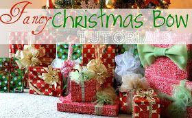 Miss Lovie: Fancy Christmas Gift Wrap Bow Tutorials