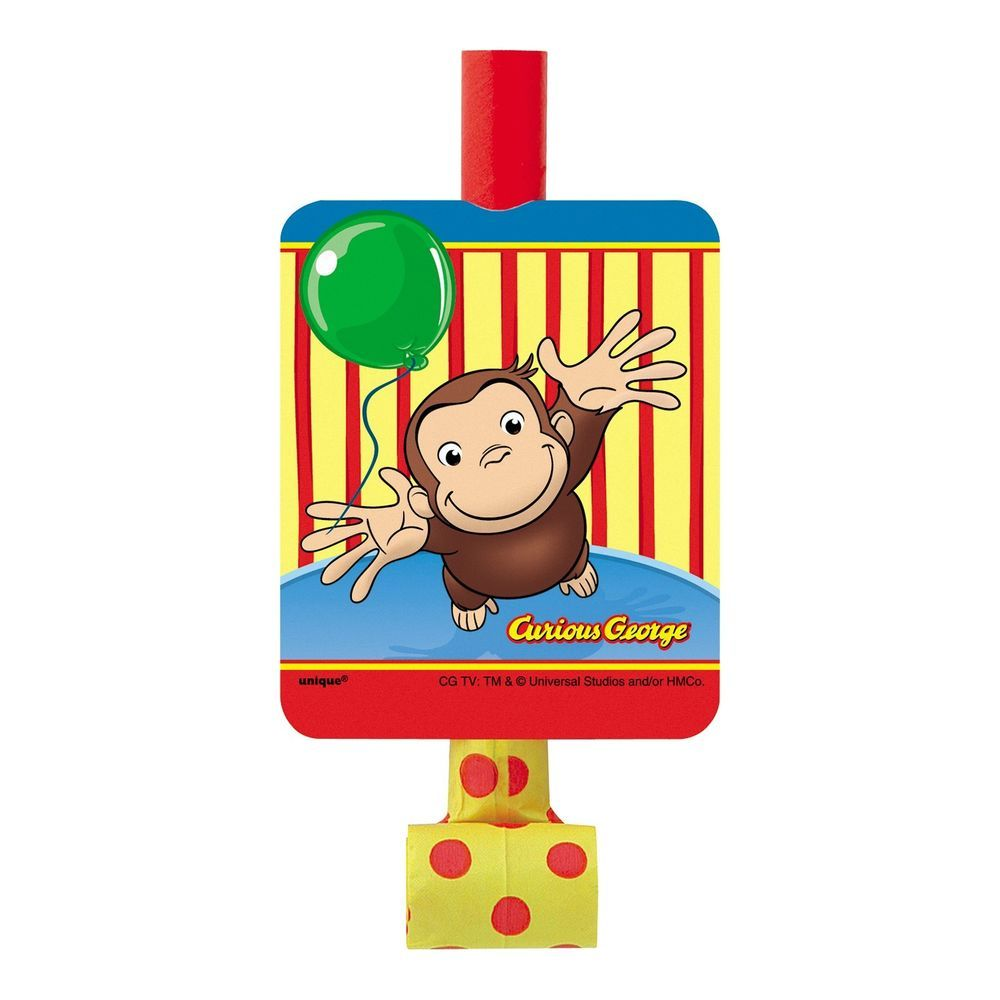 CURIOUS GEORGE Celebrate BLOWOUTS 8 ~ Birthday Party Supplies Favors Monkey