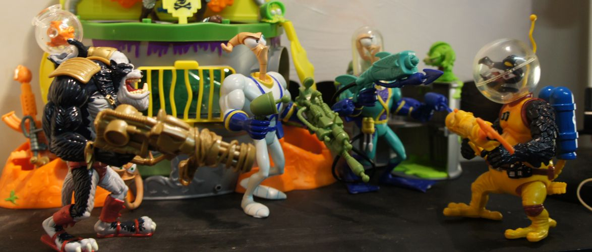 Earthworm Jim Action Figures - Playmates 1995