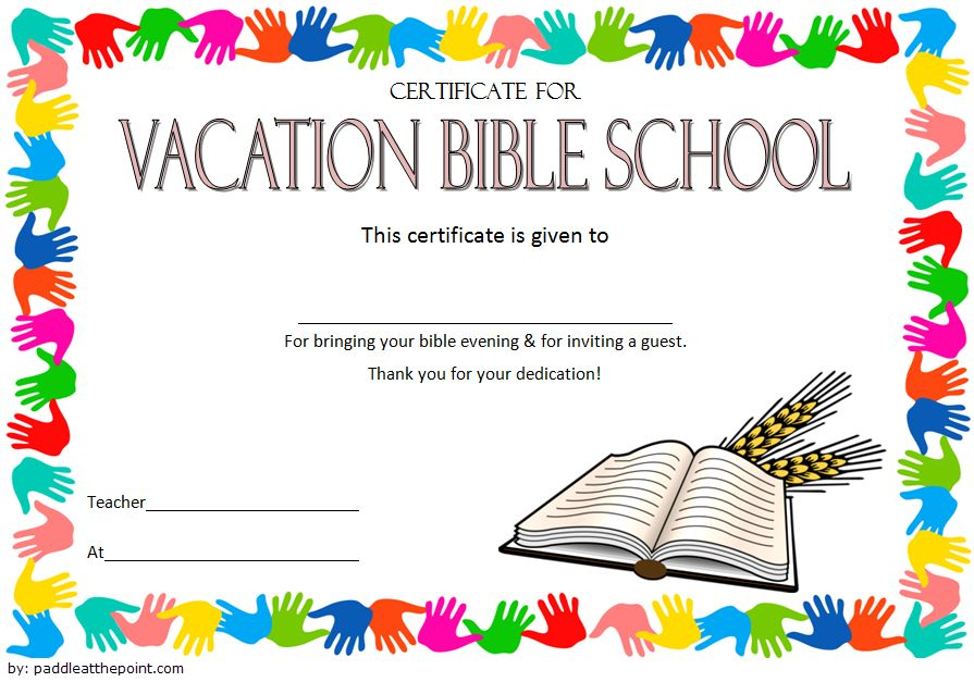 Printable Free Vbs Certificate Templates In 2021 Certificate Templates School Certificates Certificate Of Completion Template