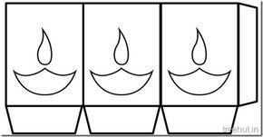 printable diwali lantern template  Diwali Free Printable Paper Lantern Templates (6) | Paper ...