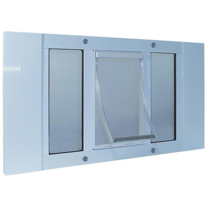 Ideal Pet Products Aluminum Sash Window X White Aluminum Window Pet Door