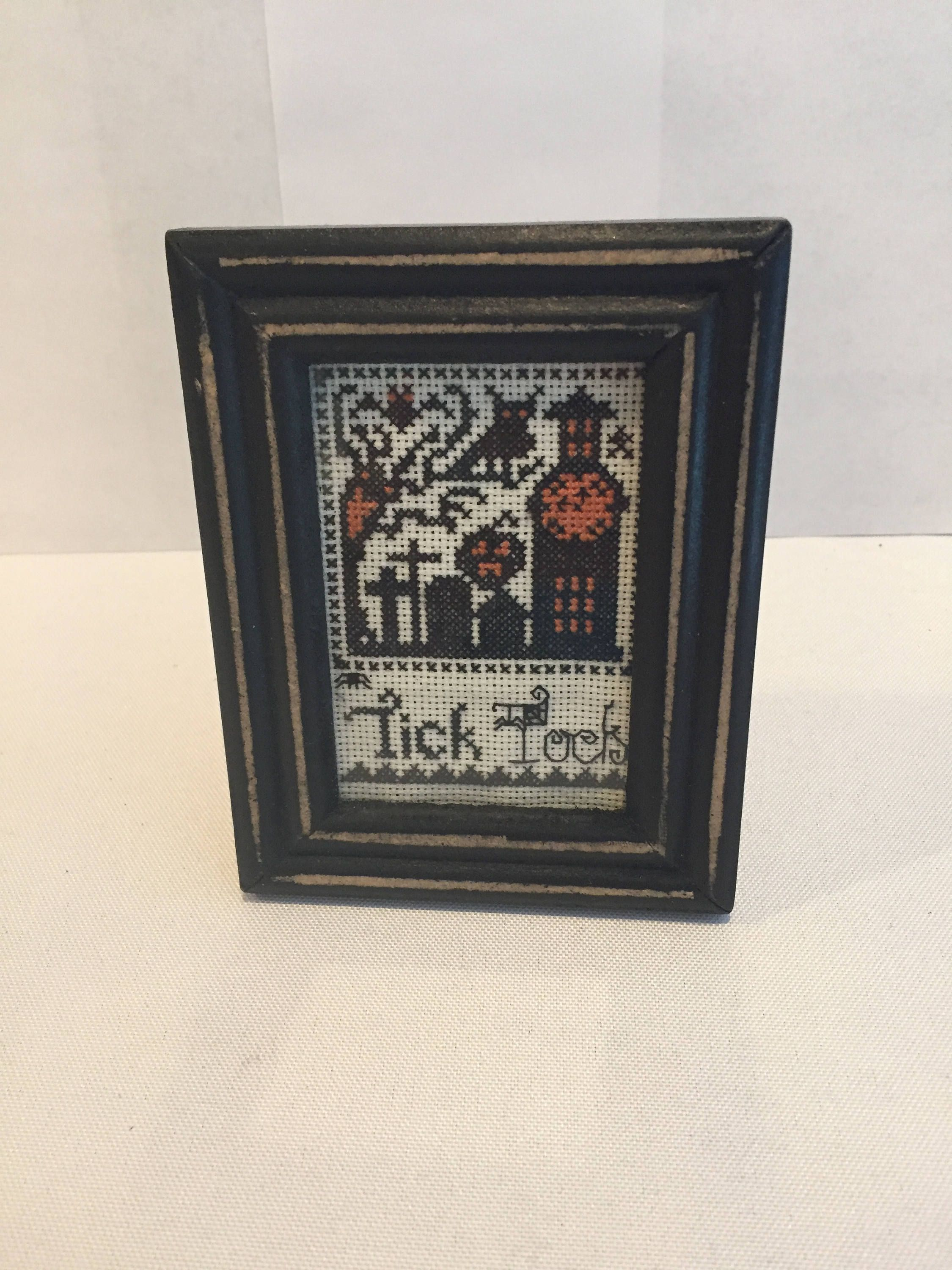 Tick Tock, A Vintage Halloween Cross Stitch by BewitchinStitching on Etsy