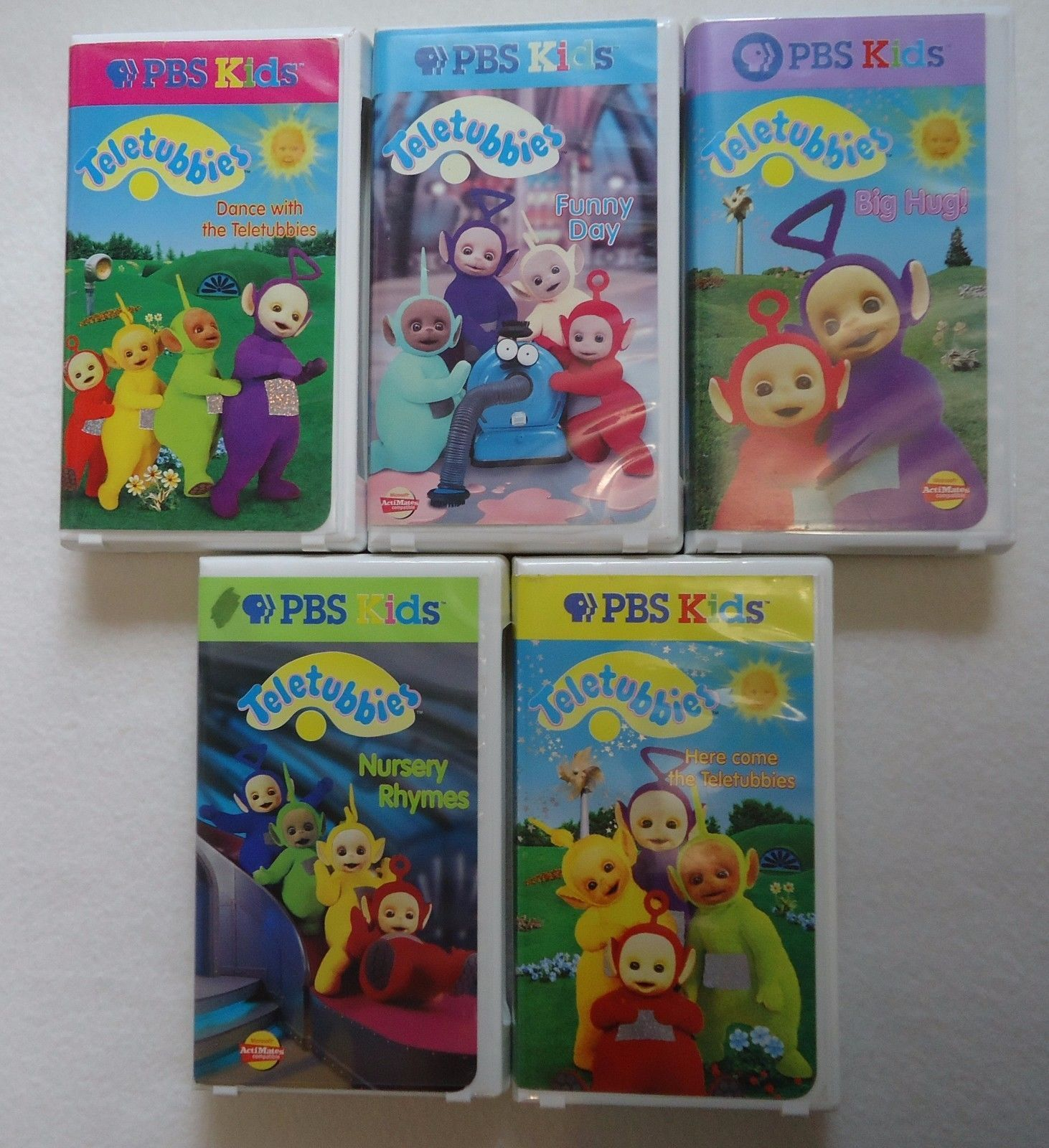 Teletubbies VHS Lot Of 5 Video Tapes PBS Funny Day Dance