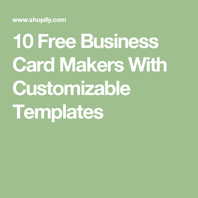 10 free business card makers with customizable templates shopify 10 free business card makers with customizable templates shopify reheart Images