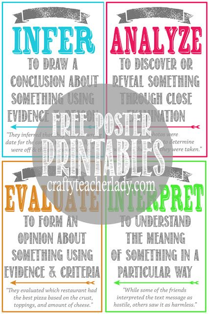 Free set of printable critical thinking skills posters great for free set of printable critical thinking skills posters great for any secondary classroom they fandeluxe Images