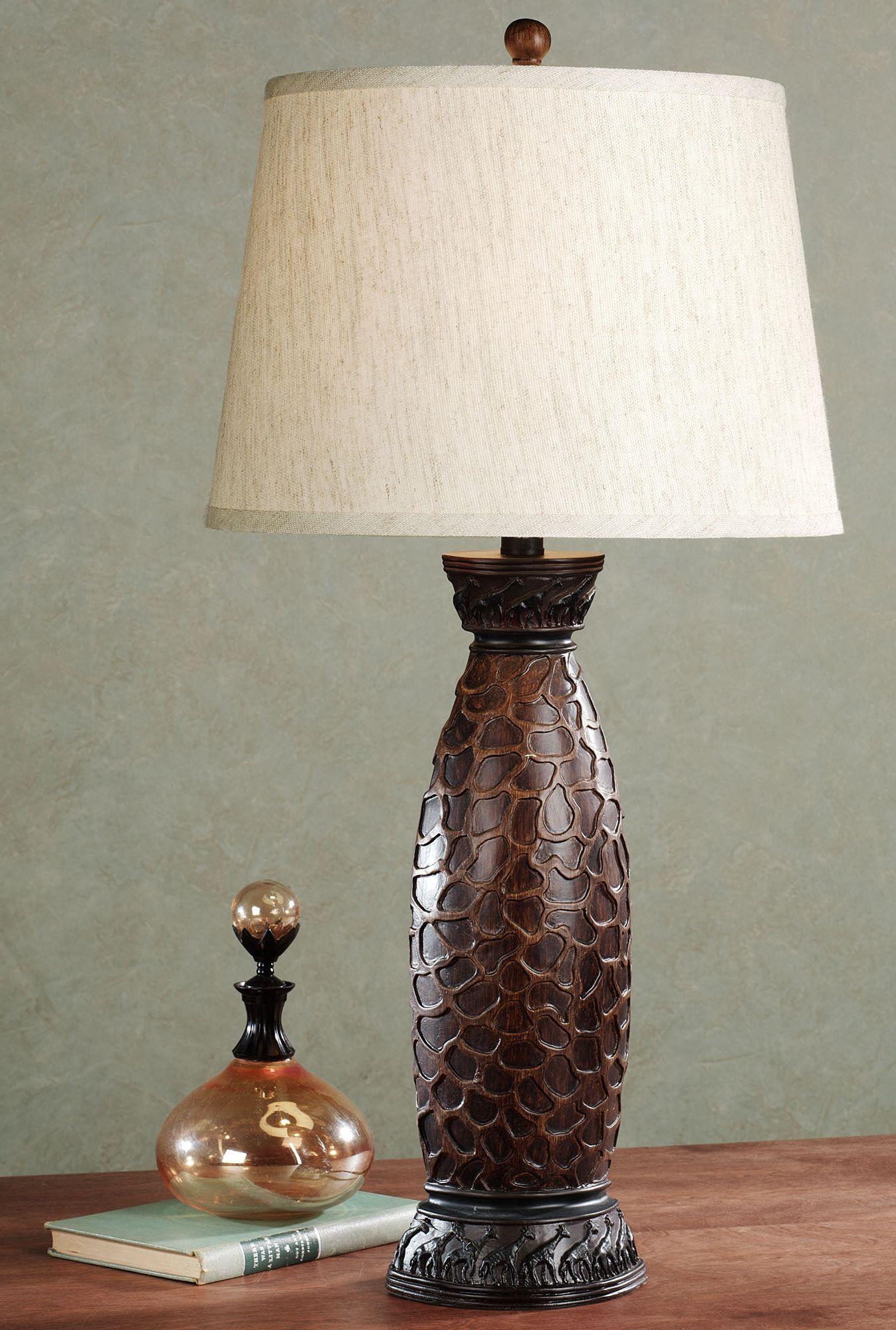 Vakasa giraffe print table lamp animal prints pinterest vakasa giraffe print table lamp geotapseo Choice Image