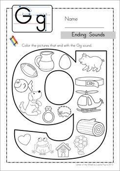 ending sounds abcs kindergarten language arts preschool learning kindergarten literacy. Black Bedroom Furniture Sets. Home Design Ideas