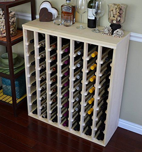 Wine Racks Vinogrotto 56 Bottle Premium Table Wine Rack Pine By Vinogrotto Exclusive 12 Inch Deep Design With Solid Sides H Wine Rack Wine Rack Cabinet Wine