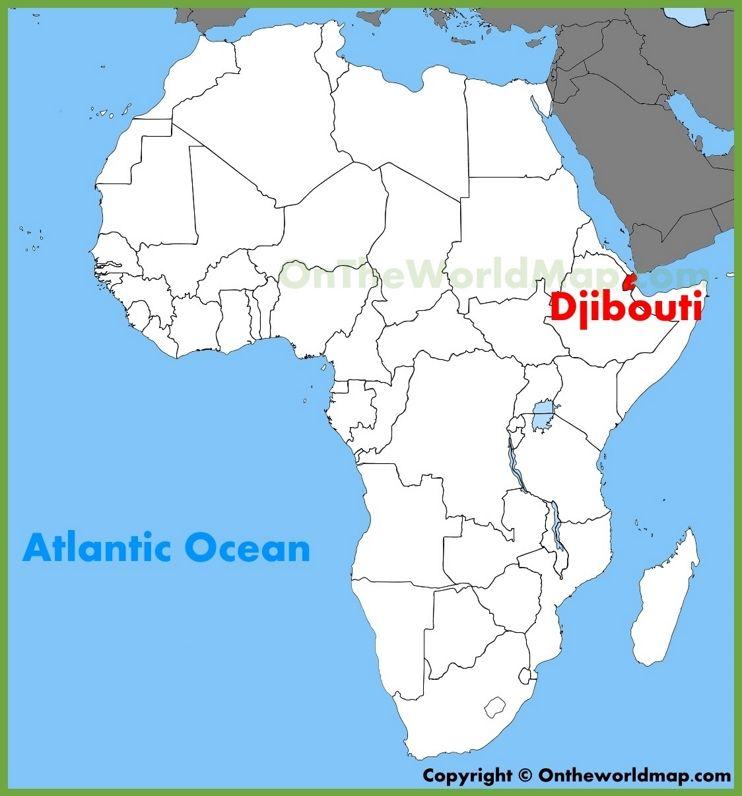Djibouti On Africa Map Djibouti location on the Africa map | Africa map, African map, Map