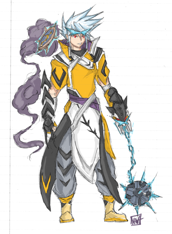 Raikou Gijinka concept by bulletproofturtleman on DeviantArt