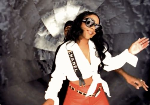 Image result for lil kim chanel suspenders