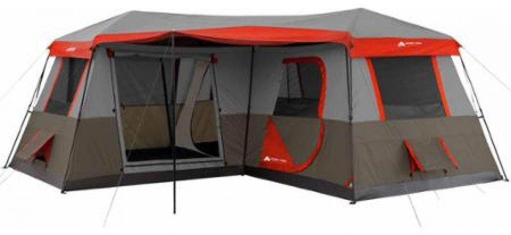 3 Room Tent Family Camping 12 Person Cabin Large Rainfly Instant Ozark Trail Family Tent Camping Cabin Tent Best Tents For Camping