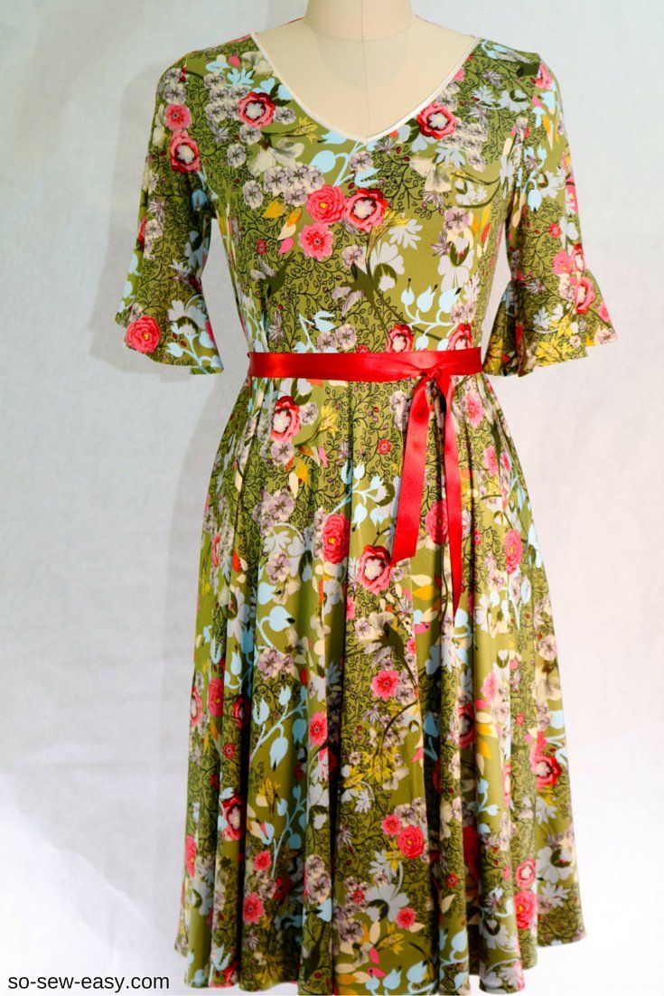 f5b2c421b44 Summer Dress super easy free sewing pattern and tutorial Sizes 2-24.