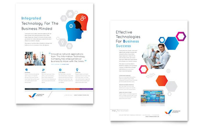 Free Datasheet Template byLayouts – Free Brochure Templates for Word to Download