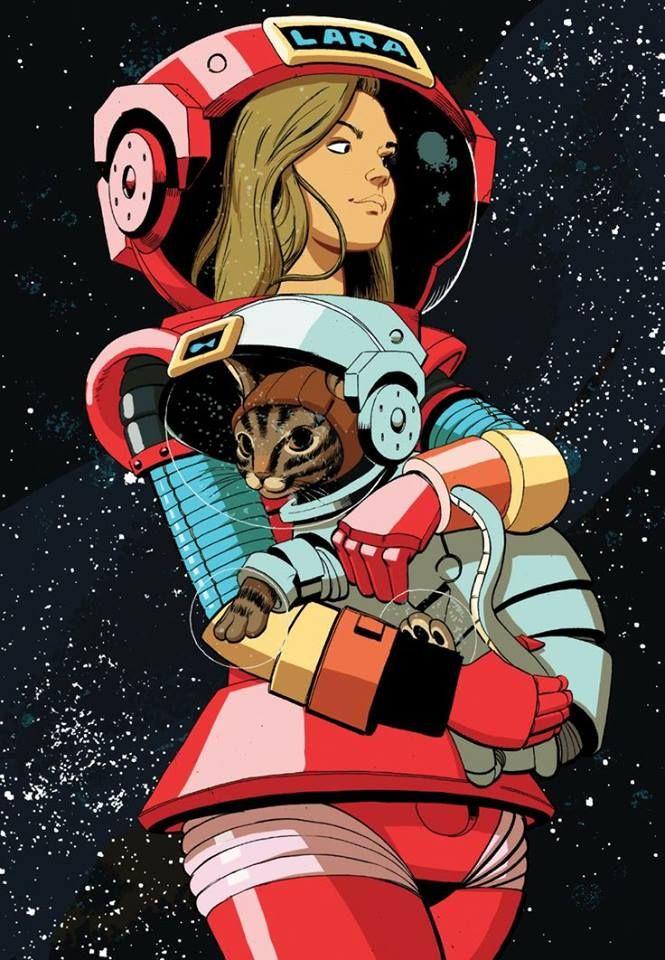 Gata Y Mujer En El Espacio Gato Espacial Fotografia De Arte Oscuro Espacios Artisticos