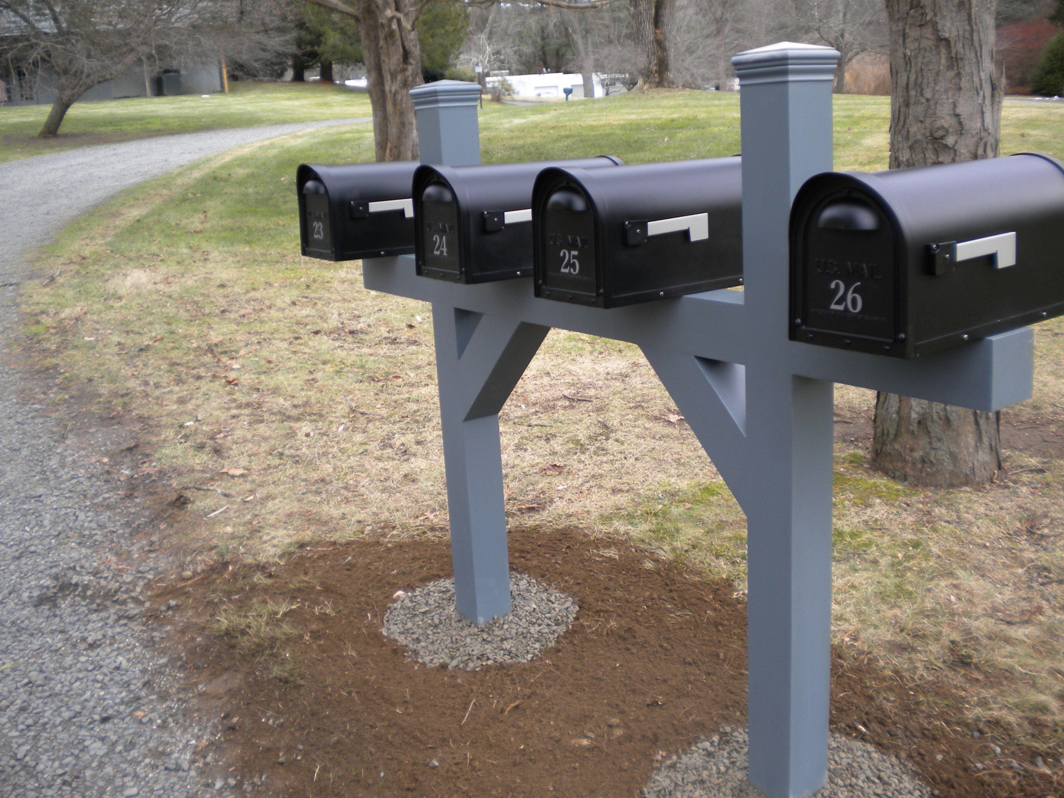 aluminum mailbox post. 4 Gang Post In A Custom Color And Aluminum Mailboxes Mailbox D