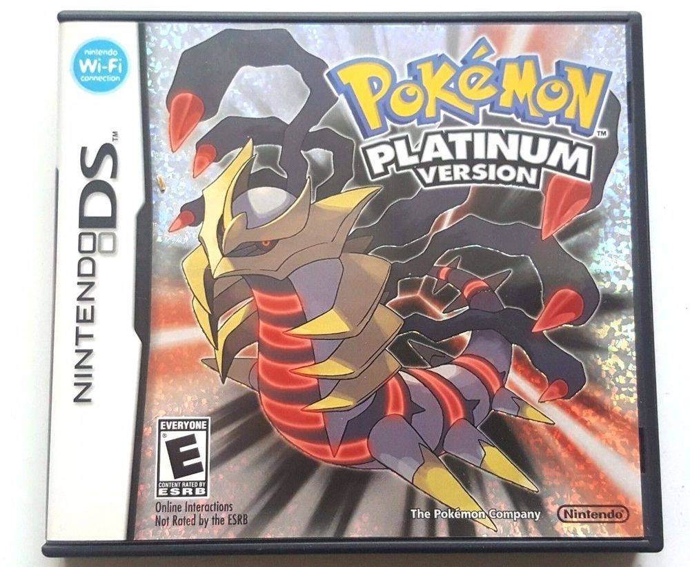 Pokemon Platinum Version Ds Case And Manual Only *no Game* Nintendo Original Game Cases & Boxes