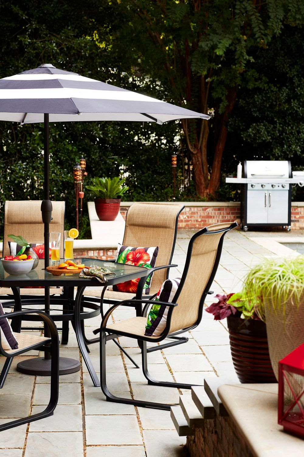 The right outdoor patio furniture can set the mood and ... on Living Spaces Patio Set id=12028