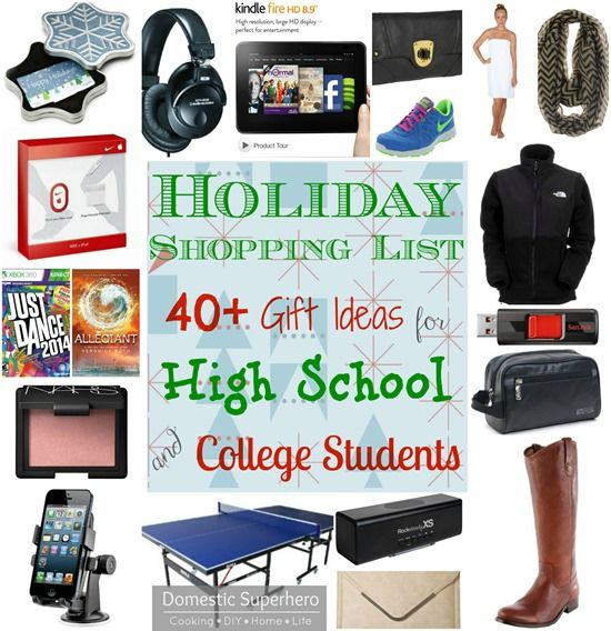 Holiday Shopping List: 40+ Gift Ideas for High School and College Students  - don't know what to buy those teenagers and early 20's?! - Holiday Shopping List: 40+ Gift Ideas For High School And College