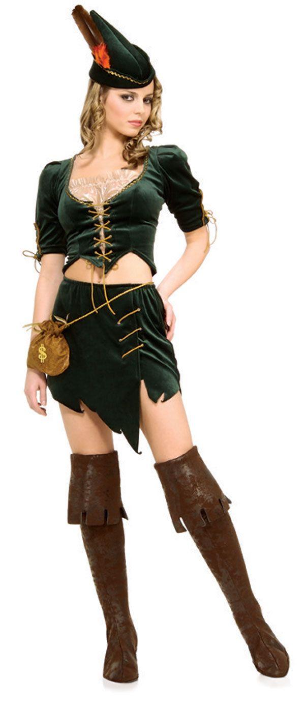 Womens Sexy Princess Of Thieves Robin Hood Costume Renaissance  ~ Déguisement Robin Des Bois Femme Adulte