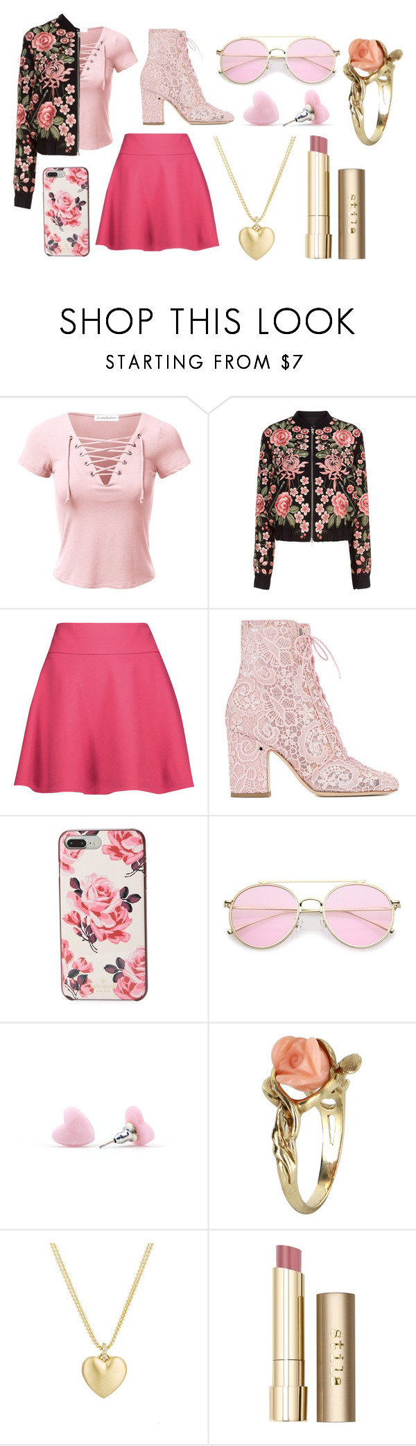 """Daughter of Aphrodite"" by methebault ❤ liked on Polyvore featuring Needle & Thread, RED Valentino, Laurence Dacade, Kate Spade, Vintage, Finn and Stila"