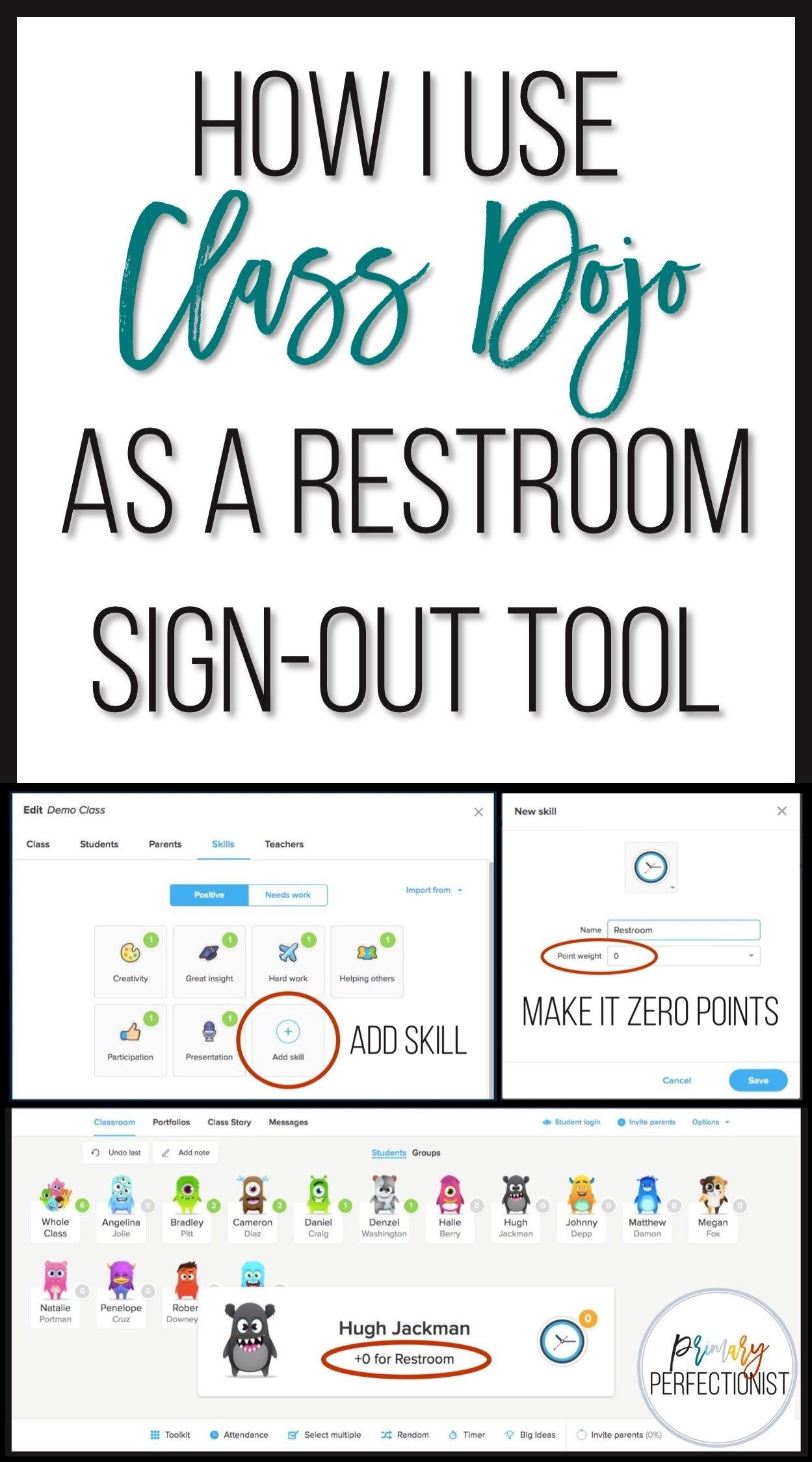 How I Use Class Dojo as a Restroom SignOut Tool is part of Teaching classroom management -