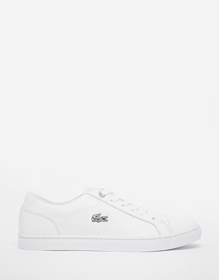 Lacoste+White+Leather+Showcourt+Trainers