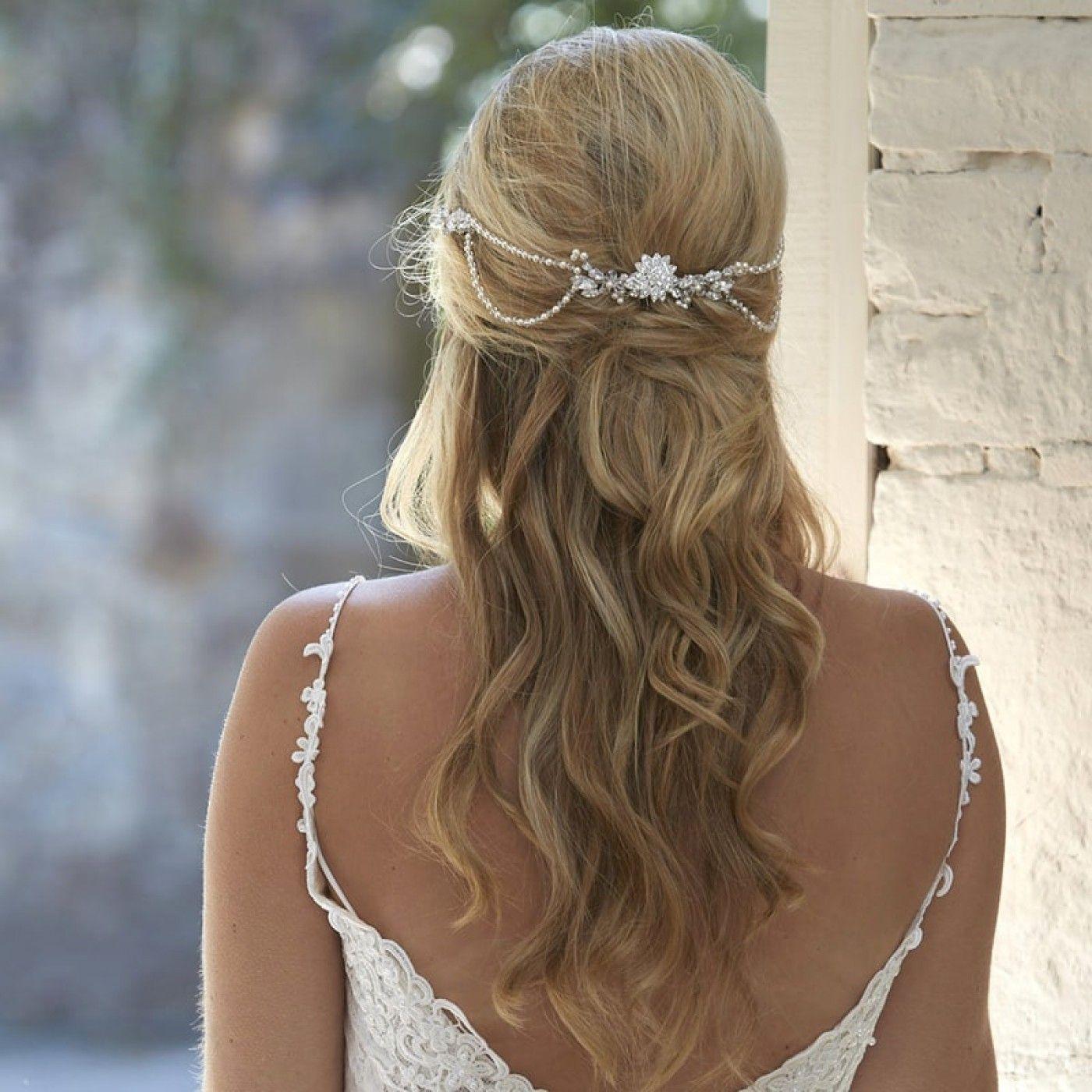 gorgeous arianna lyra vintage pearl and crystal bridal hair