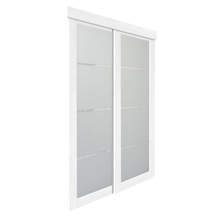 31 In X 82 In White Colored Glass Interior Sliding Door At Lowe 39 S Canada 0605132z1w2500
