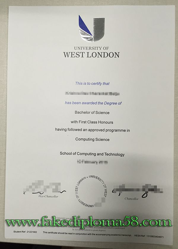 University Of West London Degree Sample Buy Fake Degree Buy Fake