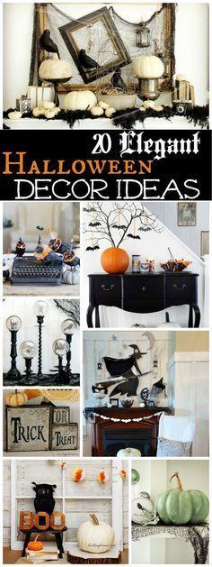 20 Spooktacularly Elegant DIY Halloween Decor Ideas DIY Halloween - cheap diy halloween decorations