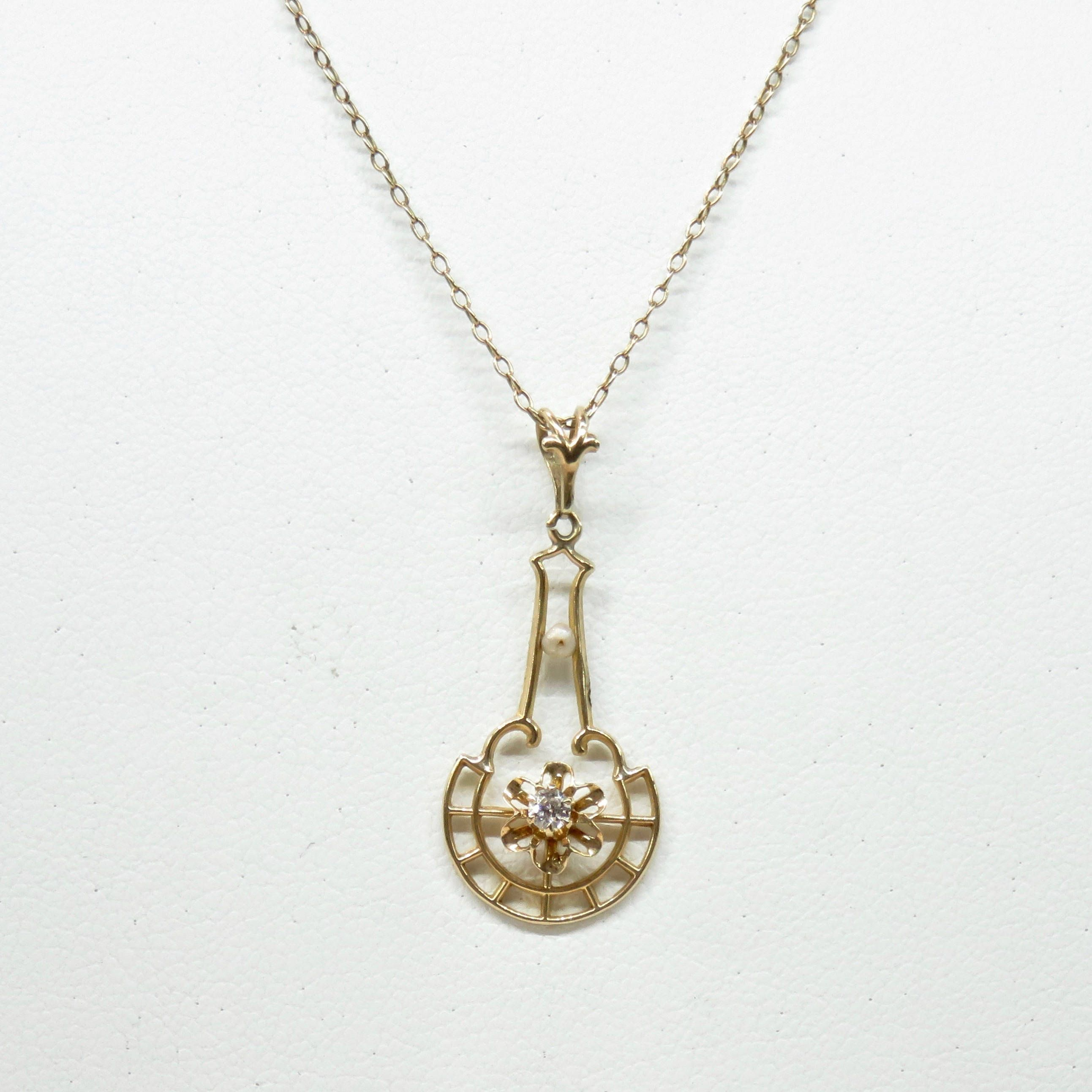 gold h pink de tdw necklace diamond couer pin rose i