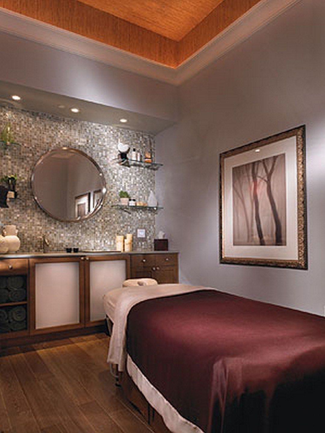Massage Therapy Room Design Ideas: Execellent Indoor Spa Decorating Ideas (26