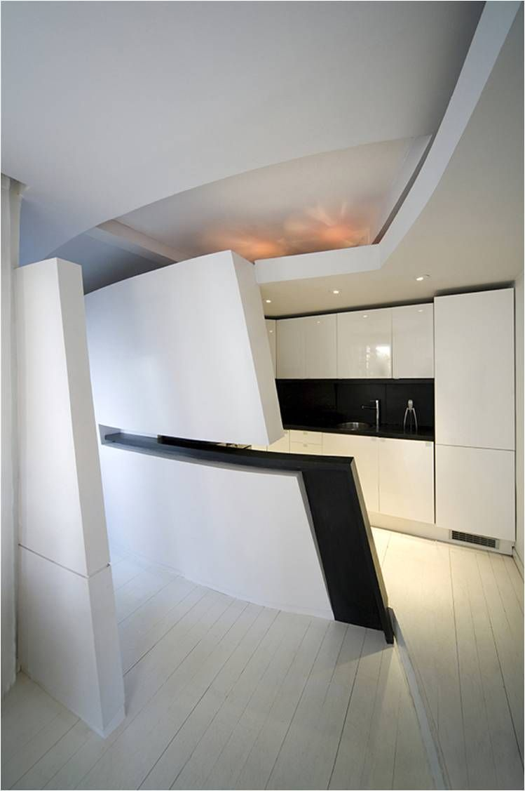 Modern and futuristic penthouse in madrid kitchen viahouse