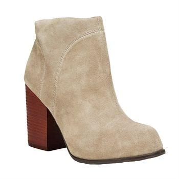 Jeffrey Campbell Hanger Bootie   from Von Maur #VonMaur #StyleCorner #Taupe #Suede #Boots
