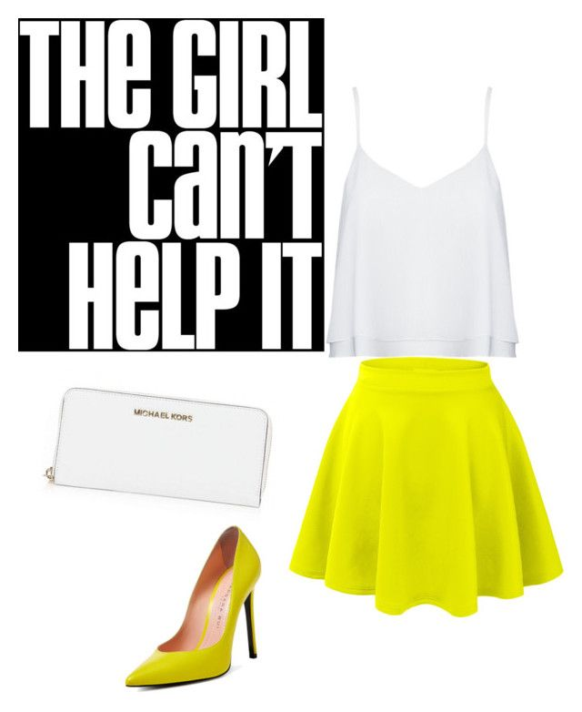 """cant help it"" by omg-gab ❤ liked on Polyvore featuring LE3NO, Alice + Olivia, Barbara Bui and MICHAEL Michael Kors"